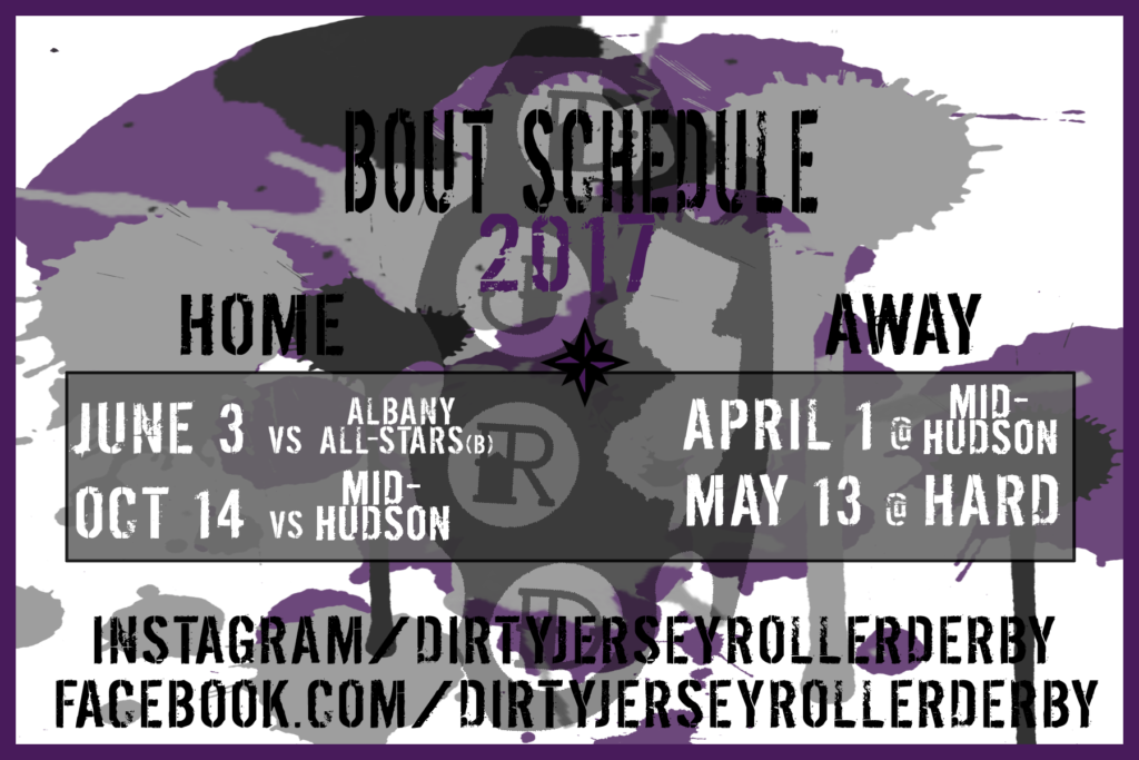 Dirty Jersey Roller Derby Bout Schedule 2017